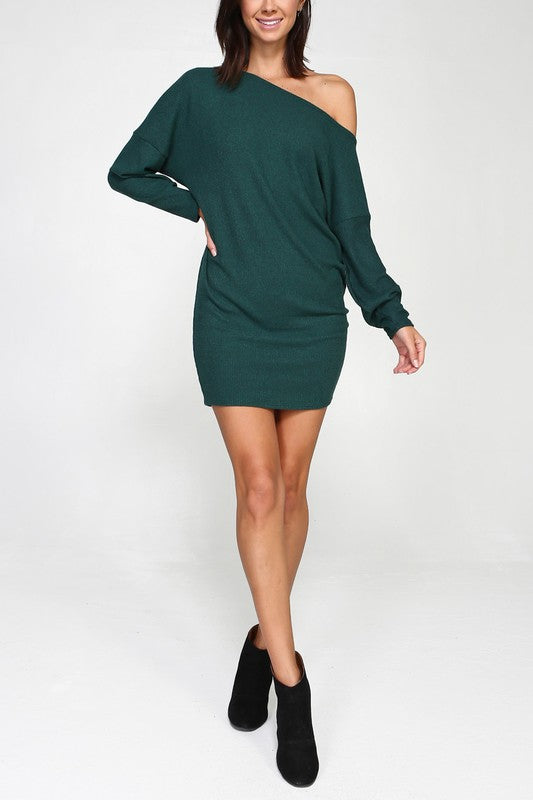 THE ESSENTIAL ASYMMETRIC KNIT DRESS
