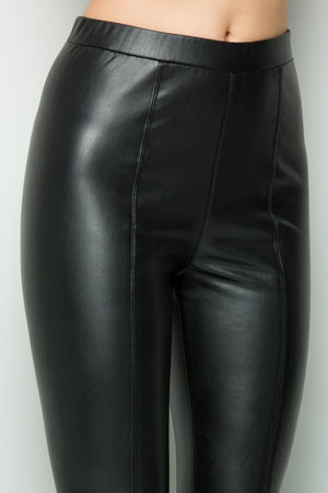 THE ESSENTIAL EDIT FAUX LEATHER PANTS