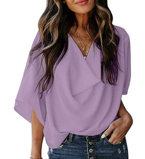 THE JOURNEY DRAPED TOP - LAVENDER