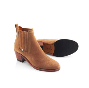 THE FAIRFAX & FAVOR ROCKINGHAM ANKLE BOOTS - CHOCOLATE