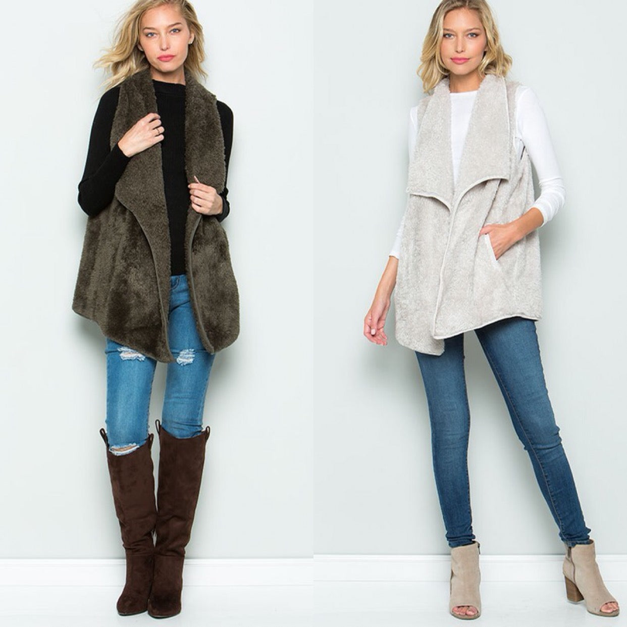 THE BABY ITS COLD OUTSIDE FAUX FUR VEST