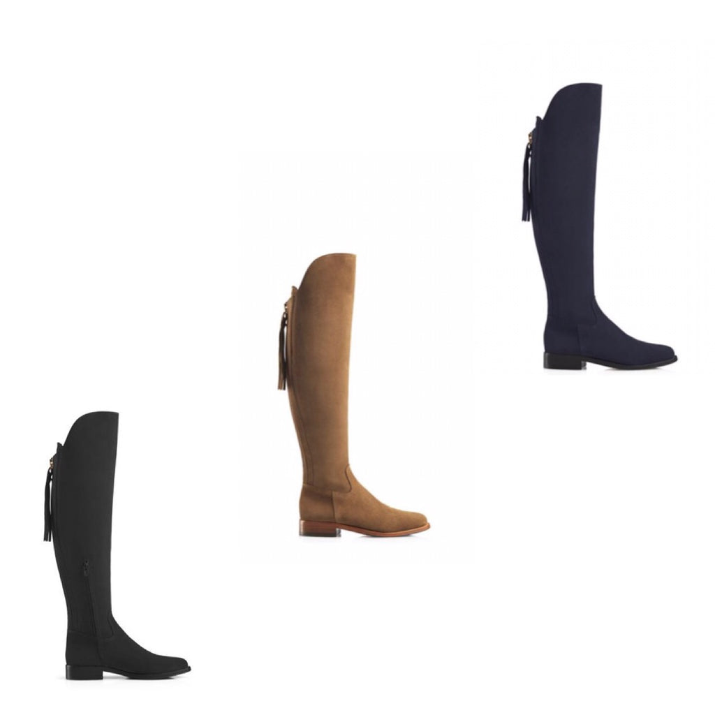 THE AMIRA FLAT OVER THE KNEE BOOTS