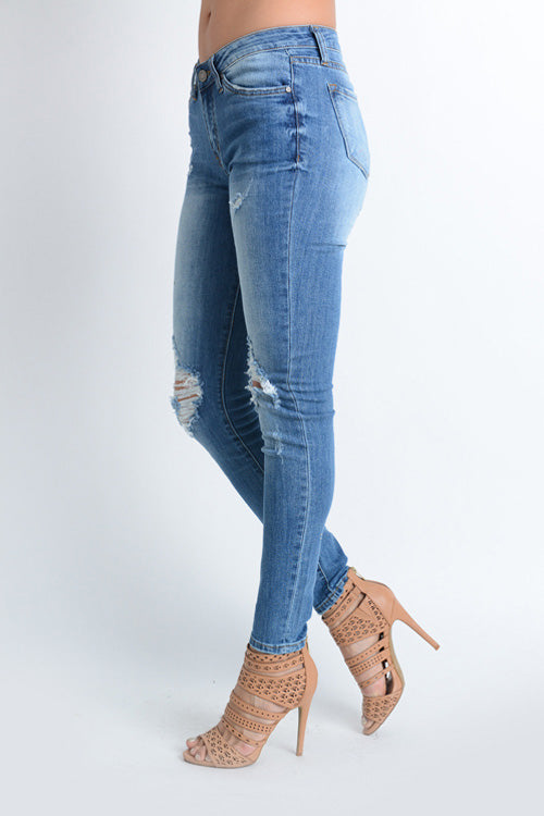 THE KINGS RD DISTRESSED JEANS