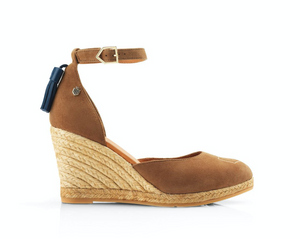 THE FAIRFAX & FAVOR MONACO WEDGE - TAN
