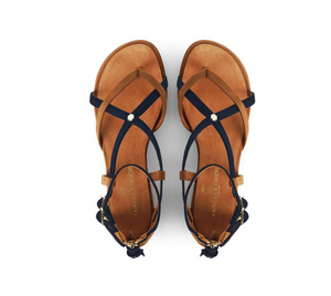 THE BRANCASTER SANDAL - NAVY - FAIRFAX & FAVOR