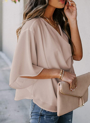 THE JOURNEY DRAPED TOP - BLUSH