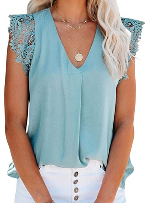 THE FLOURISH CAMI - SKY BLUE
