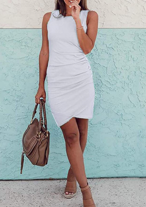 THE ESSENTIAL TANK DRESS - WHITE