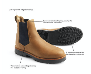 THE FAIRFAX & FAVOR SHEEPSKIN BOUDICA - OAK