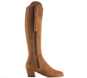 THE REGINA SUEDE HEELED BOOTS
