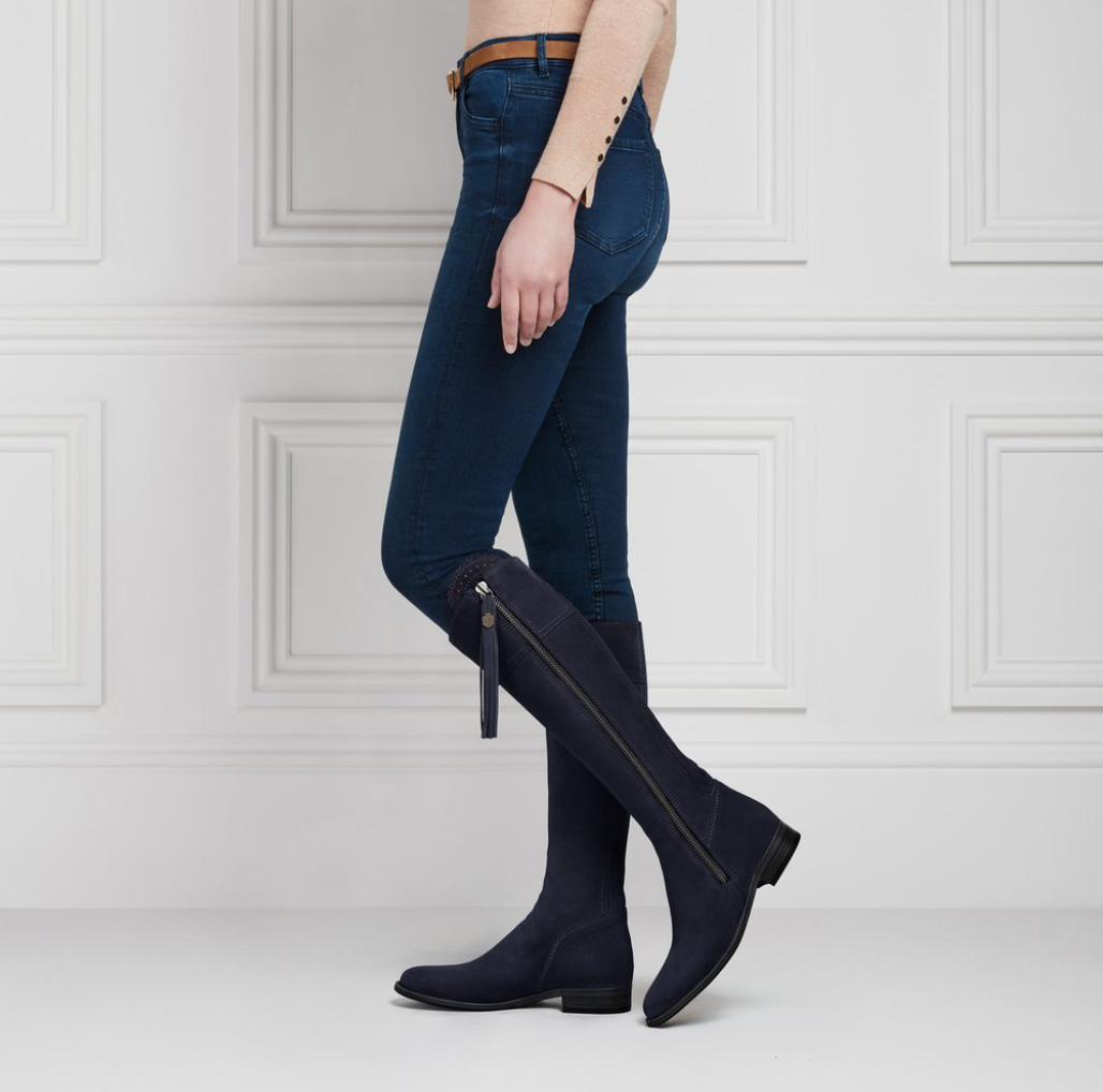 THE REGINA SUEDE FLAT BOOTS