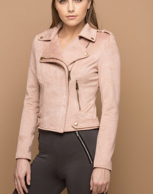 THE EFFORTLESS SUEDE LOOK JACKET