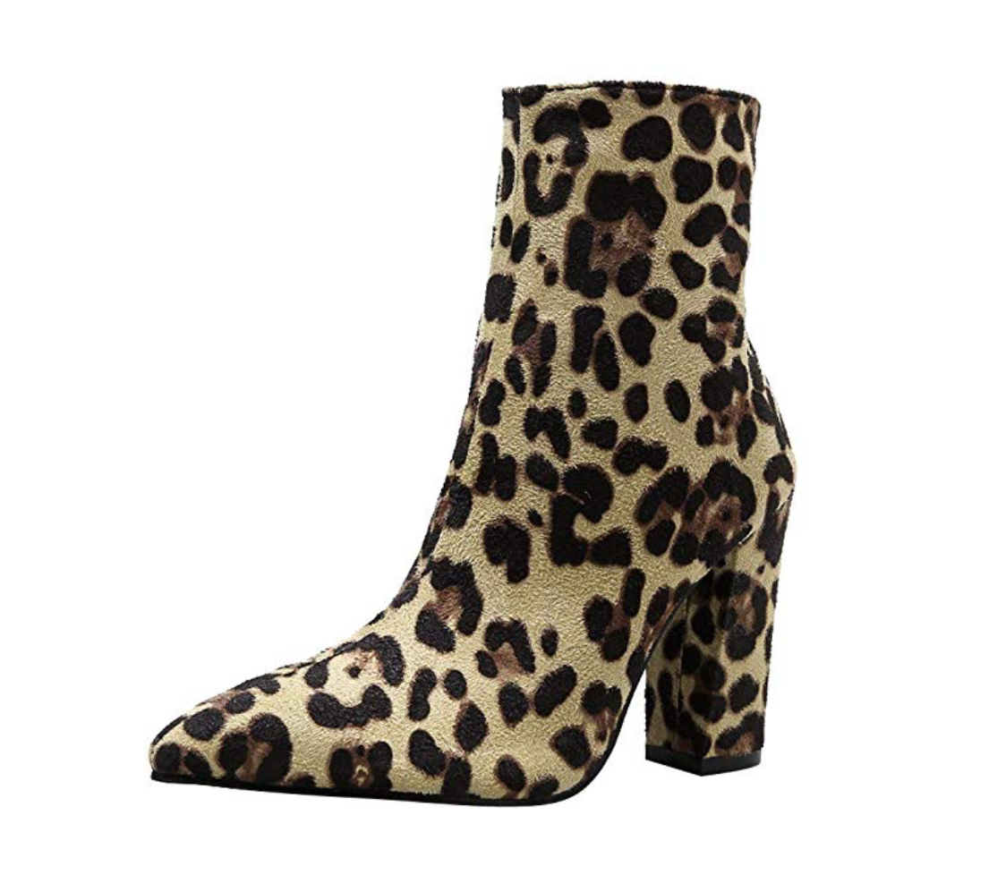 THE RUN WITH IT LEOPARD BOOTIE