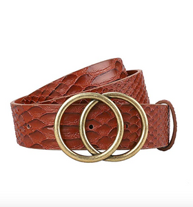 THE WINNERS CIRCLE BELT - BROWN SNAKE