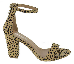 THE MULTI-WAY HEEL - 1 x STYLE, 9 x COLORS/PRINTS - BROWN SNAKE