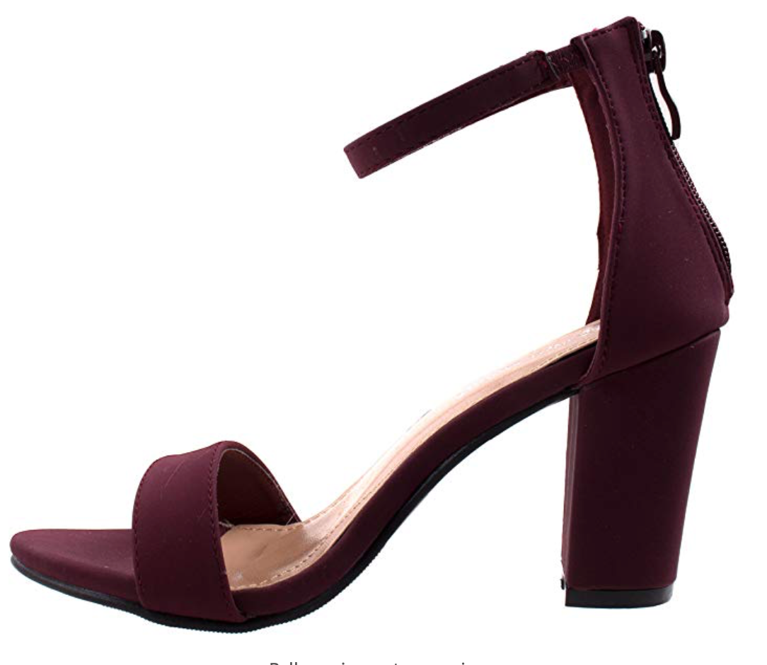 THE MULTI-WAY HEEL - 1 x STYLE, 9 x COLORS/PRINTS - BURGUNDY SUEDE