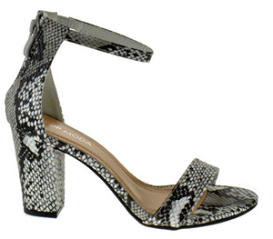THE MULTI-WAY HEEL - 1 x STYLE, 9 x COLORS/PRINTS - BLACK SNAKE