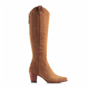 THE KNEE HIGH ROCKINGHAM BOOTS - TAN SUEDE TALL BOOT