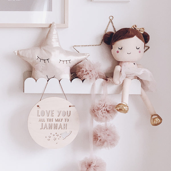 'Jannah' Rocket Wood Hanging Decor
