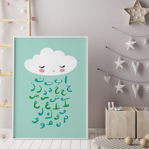 Arabic Alphabet Cloud – Various Colours