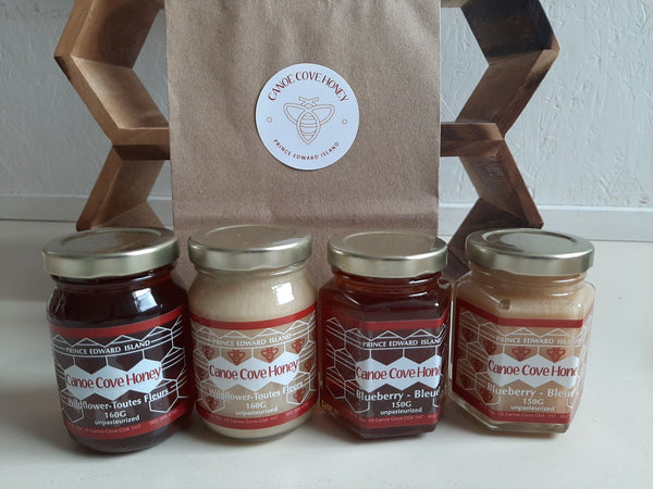Canoe Cove Honey - Four Honey Sample Pack