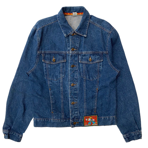 Cowboy Mickey Denim Jacket - L - VTG '80s