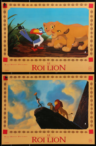 French Lion King Lobby Cards (11 asstd) - Poster - 1994 Vintage