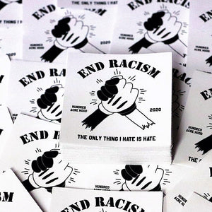 END RACISM Stickers