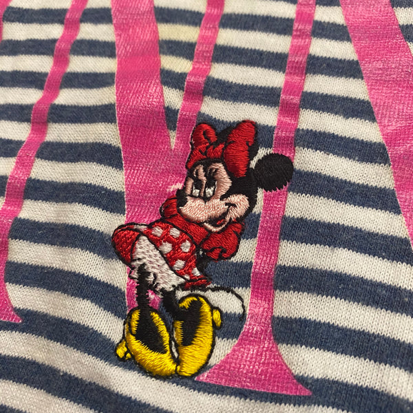 Minnie Stripes Tee - M - VTG 90s