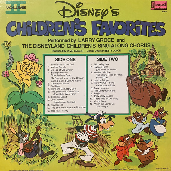 Disney's Children's Favorites Vol 2 LP
