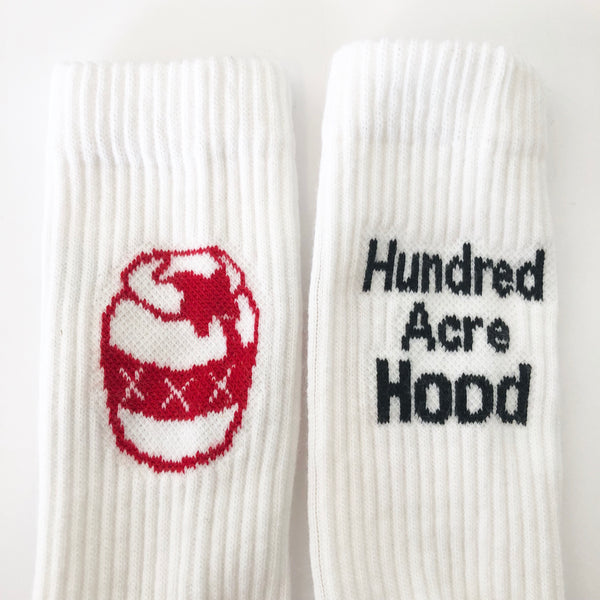 Hood Socks - White