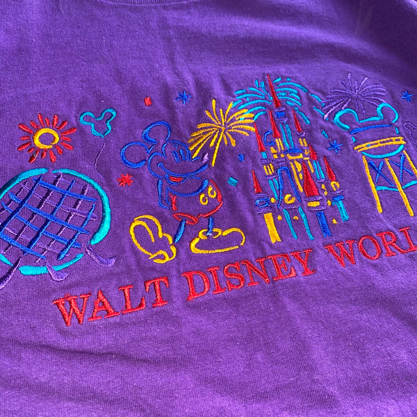 WDW Embroidered Tee - M - VTG '80s