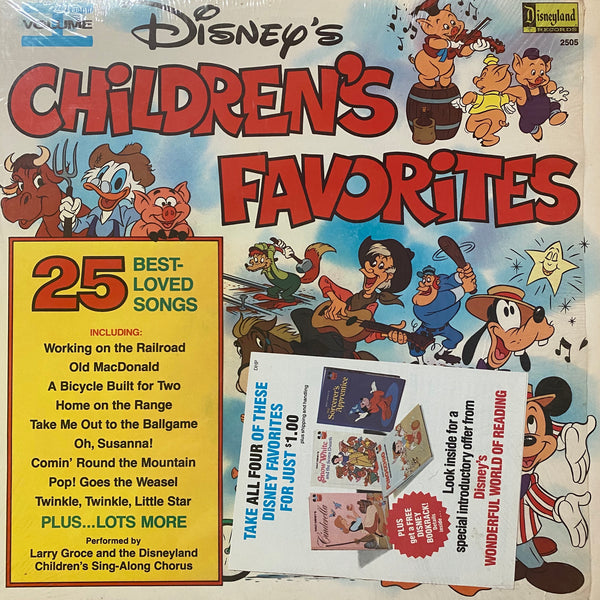 Disney's Children's Favorites Vol 1 LP