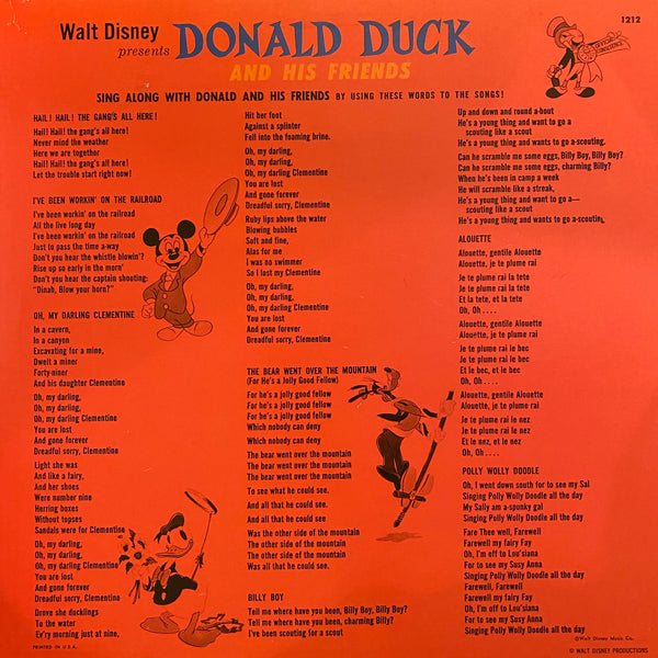 Donald Duck and his Friends LP