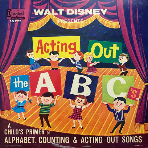 Walt Disney Presents Acting Out the ABC's LP