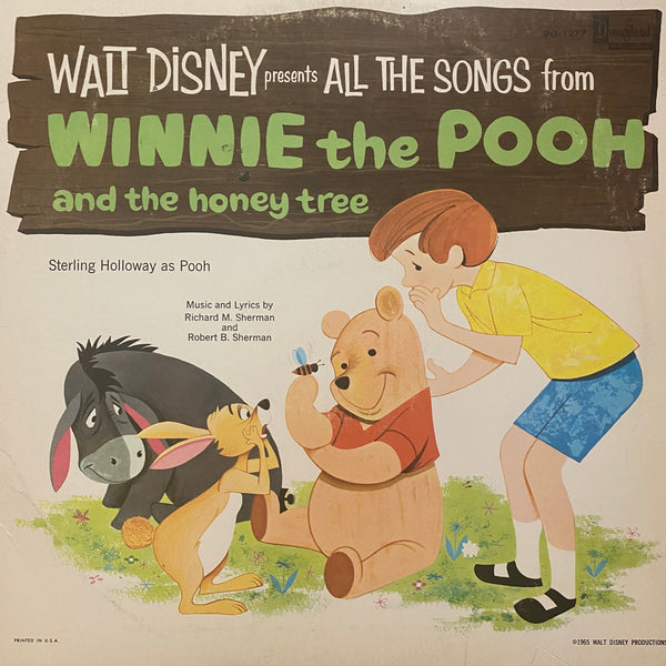 Winnie the Pooh and the Honey Tree LP