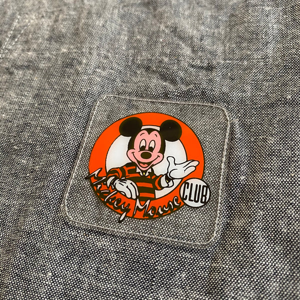 Mickey Mouse Club S/S Button Up DS - M - VTG '80s