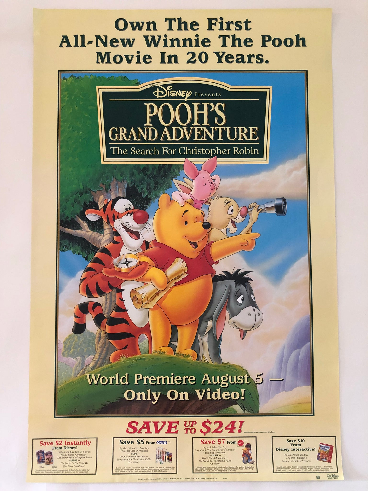 Pooh's Grand Adventure Ad Poster