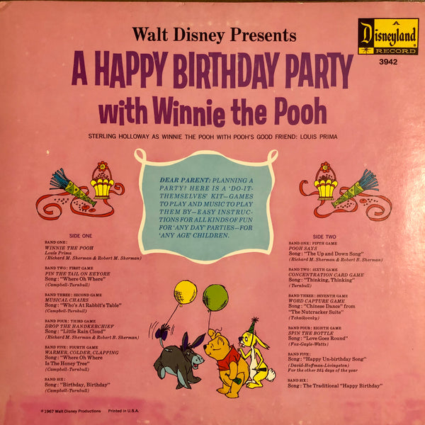 Winnie the Pooh Birthday Party