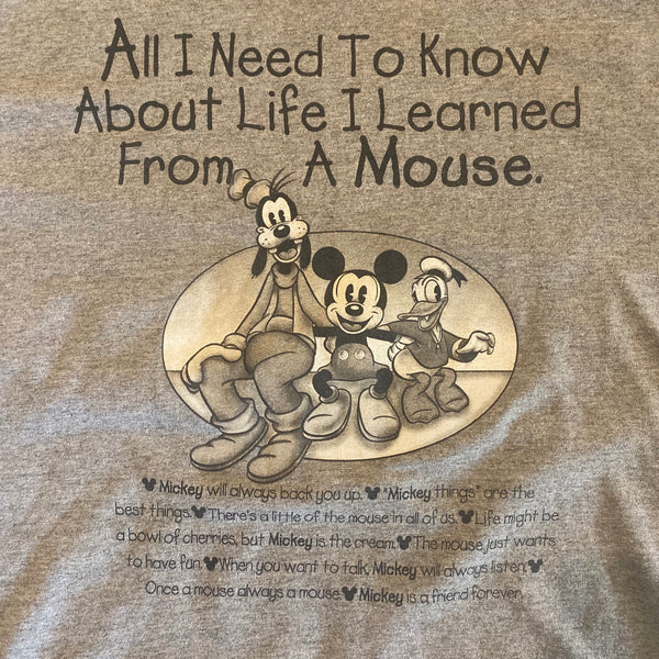 Learn From Mickey - L - VTG 90s