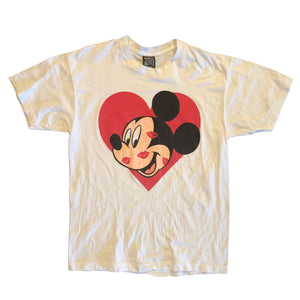 Mickey Kisses Tee - L - VTG 90s