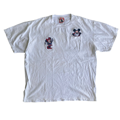 Mickey Pocket Tee - XL - VTG 1990s