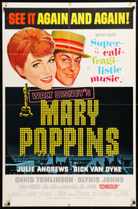 Mary Poppins Poster - 1964