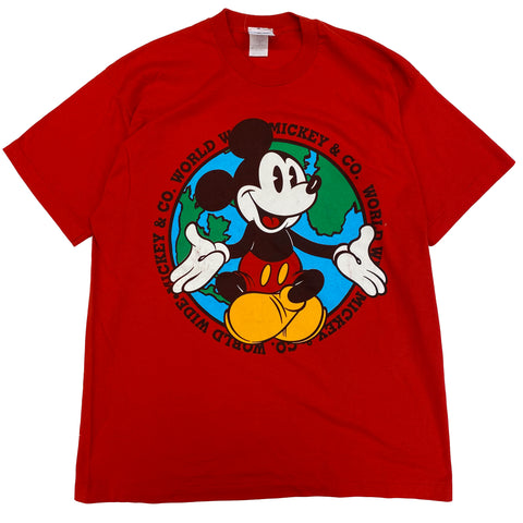 Mickey World Wide - XL - VTG '80s