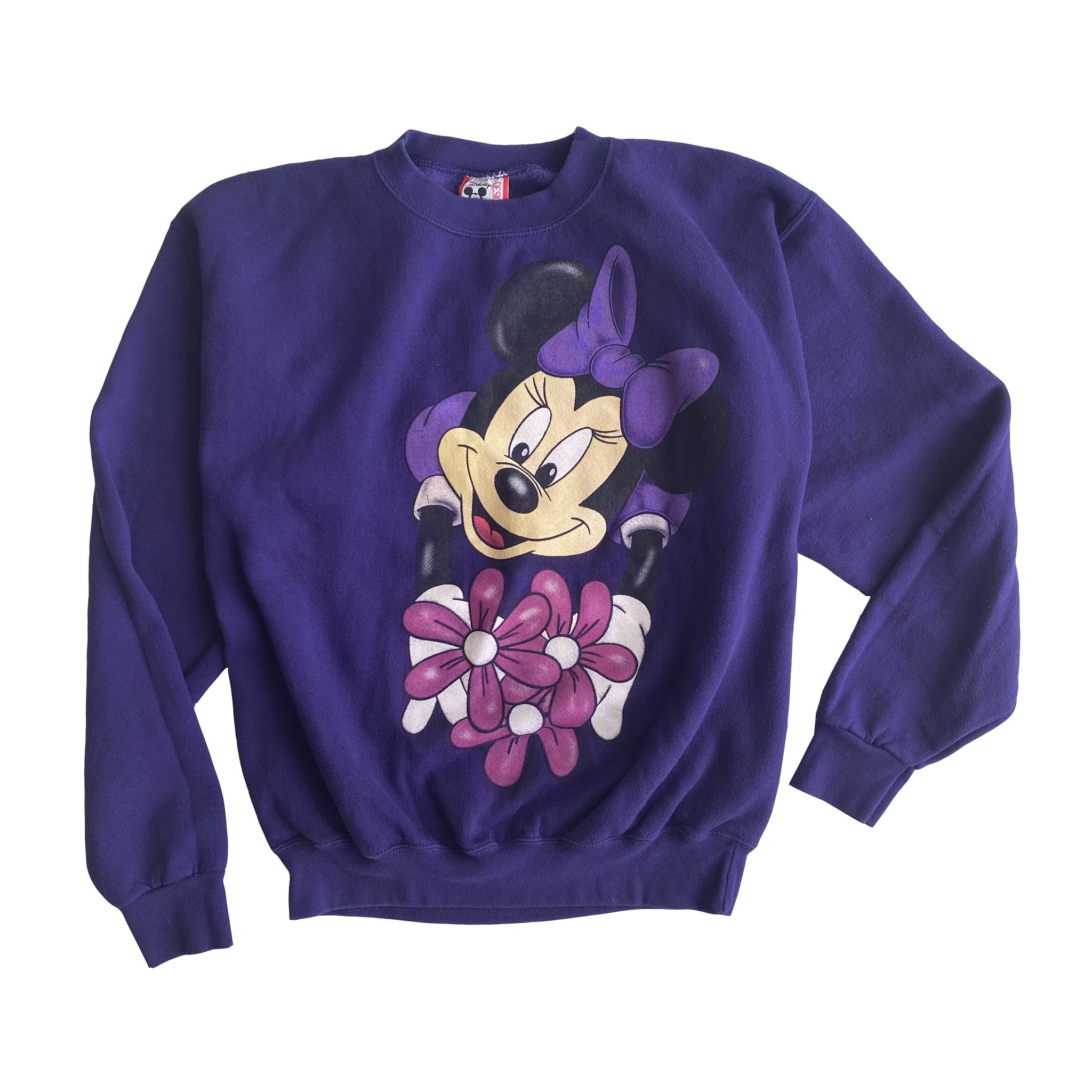 Flower Minnie Crew - S - VTG 90s