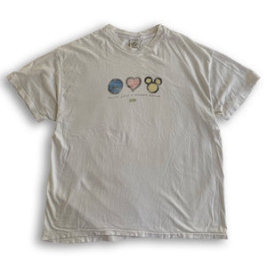 Peace Love Mickey - XL - VTG '90s
