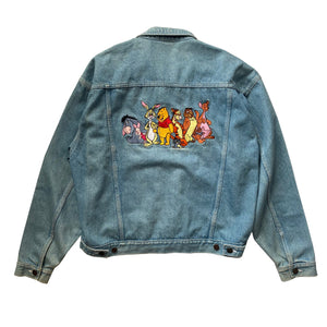 Pooh Gang Denim Jacket - L/XL - VTG 90s