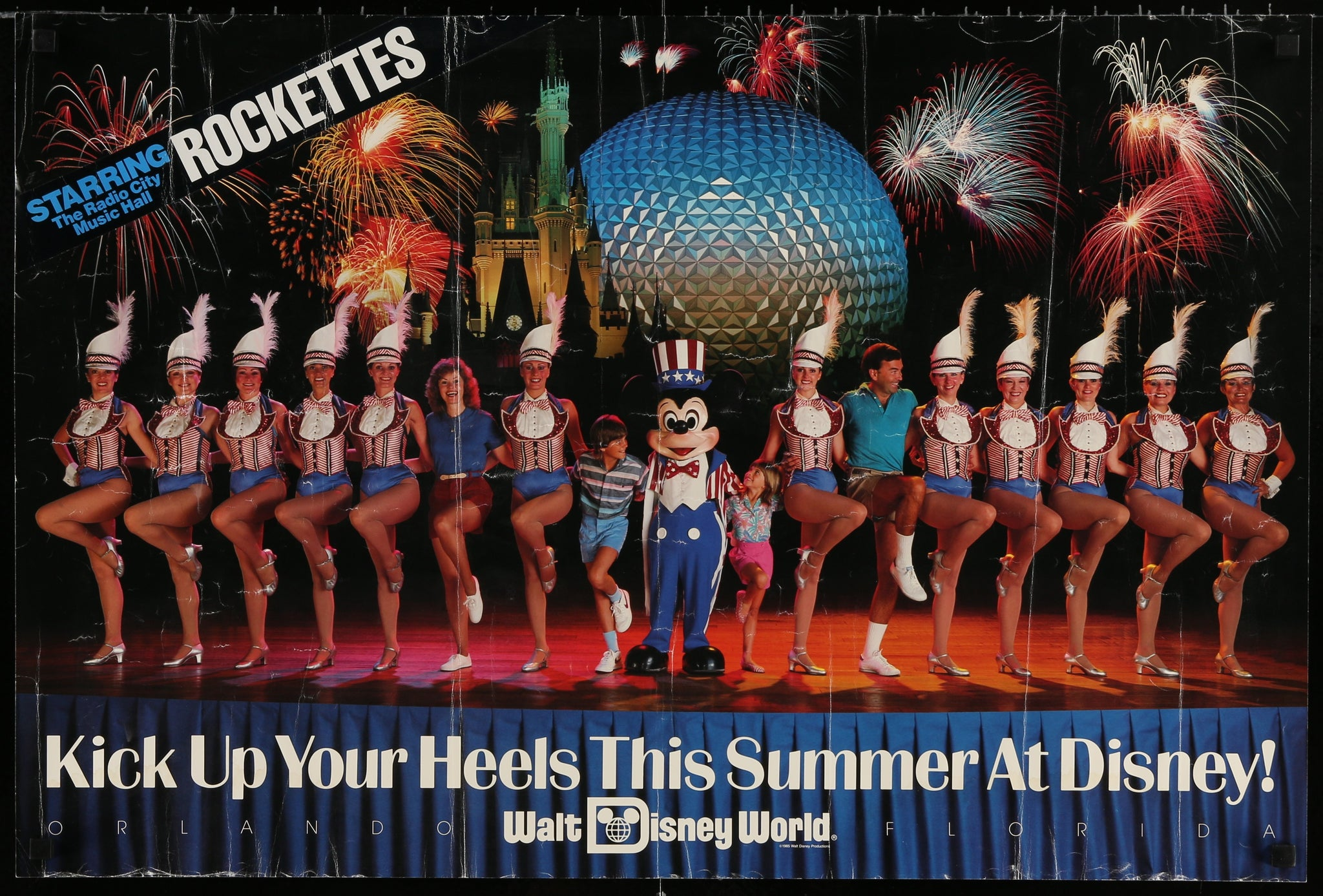 Rockettes WDW Poster - 1985