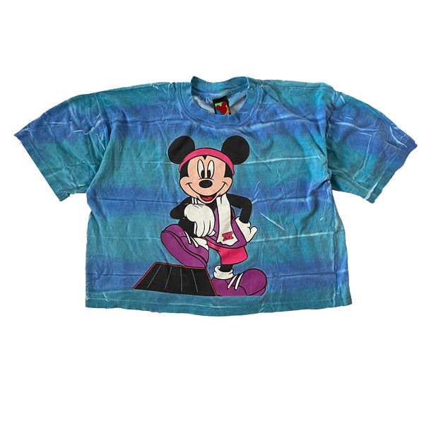 Mickey Work-Out Crop - L/XL - VTG 90s