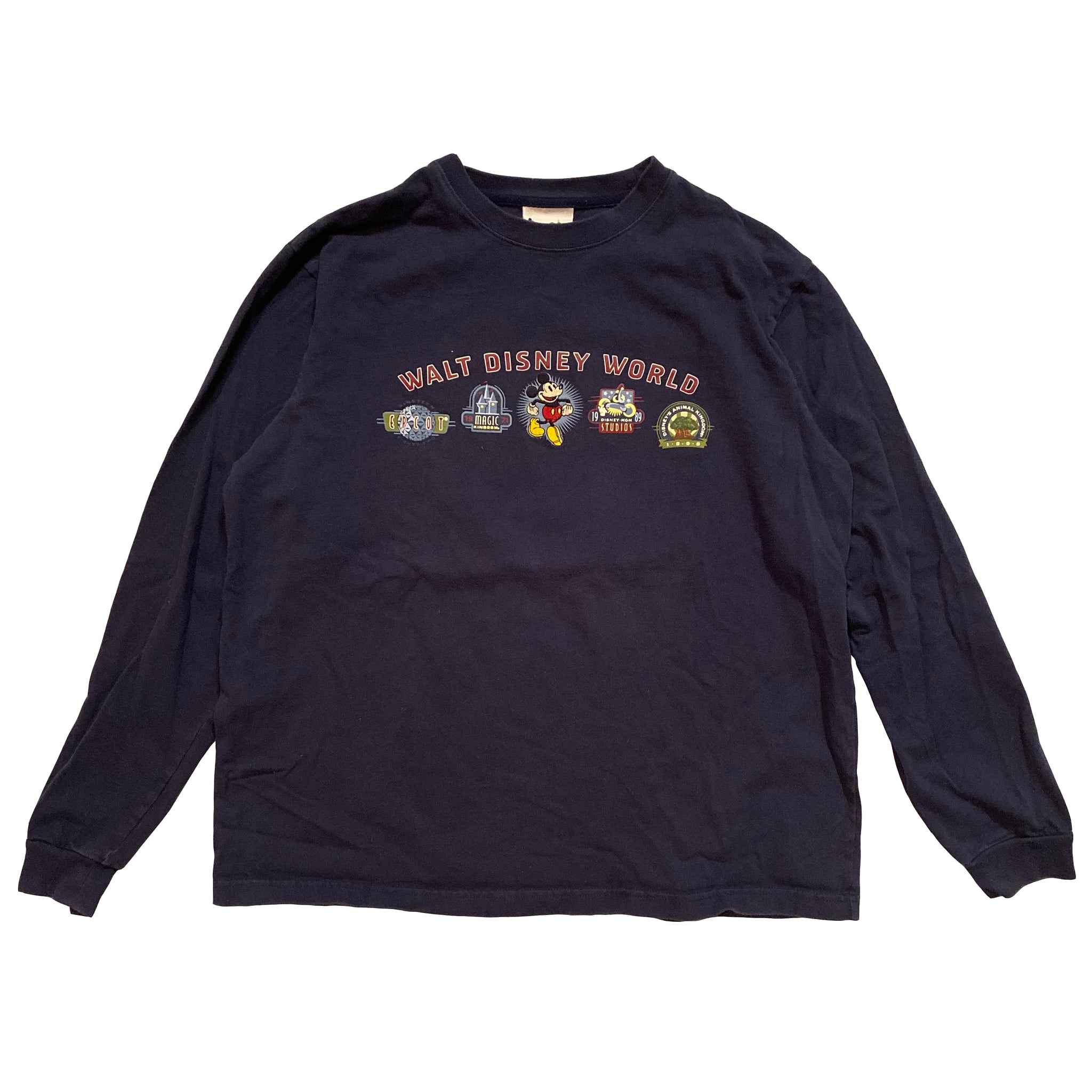 WDW Icons Long Sleeve - L - VTG 90s